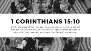 1 Corinthians 15:10 Bible