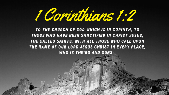 1 Corinthians 1:2 from bible reading